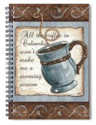 Whimsical Coffee 1 Spiral Notebook