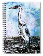 Whimsical Heron Art Spiral Notebook