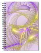 Whimsical In Purple Spiral Notebook