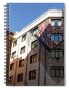 Whimsical Madrid - A Building Draped In Traditional Spanish Mantilla Spiral Notebook