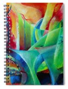 Whimsical Mood-landscape And Fields Spiral Notebook