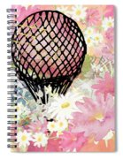 Whimsical Musing High In The Air Pink Spiral Notebook