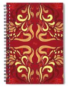 Whimsical Organic Pattern In Yellow And Red I Spiral Notebook