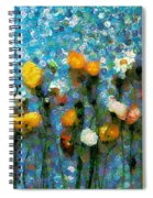 Whimsical Poppies On The Blue Wall Spiral Notebook