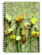 Whimsical Poppies On The Wall Spiral Notebook