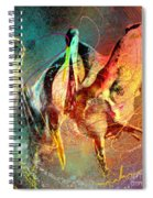 Whirled In Digital Rainbow Spiral Notebook