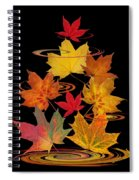 Whirling Autumn Leaves Spiral Notebook