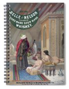 Whiskey Ad Spiral Notebook