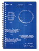 Whiskey Barrel Patent 1968 In Blue Print Spiral Notebook