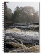 Whiskey River - Foggy Fall Waterscape Spiral Notebook