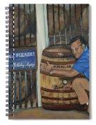 Whiskey Sleeping Spiral Notebook