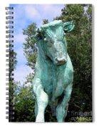 Whisper The Bull Spiral Notebook