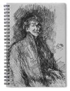 Whistler, Self-portrait.  Spiral Notebook