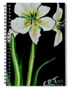 White Amaryllis Spiral Notebook