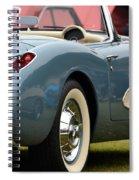 White And Light Blue Corvette Spiral Notebook