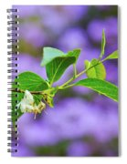 White And Purple Spring 2 Spiral Notebook