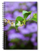 White And Purple Spring Spiral Notebook