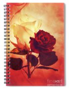 White And Red Roses Spiral Notebook
