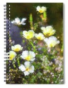 White And Yellow Poppies Abstract 2   Spiral Notebook