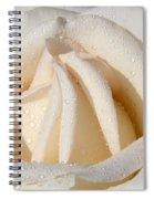 White Angel Rose Spiral Notebook