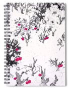 White As Snow With Cherries Spiral Notebook