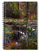White Azaleas In The Swamp Spiral Notebook