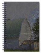 White Barn Digital Painting Spiral Notebook