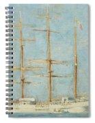 White Barque Spiral Notebook
