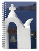 White Bell Tower Spiral Notebook