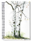 White Birch Spiral Notebook