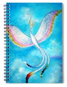White Bird From Kingdom Of Immortals Spiral Notebook