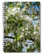 White Blossoms Spiral Notebook