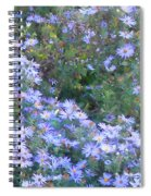 White Blue Cluster Spiral Notebook