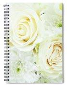 White Bouquet Spiral Notebook