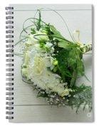 White Wedding Bouquet  Spiral Notebook