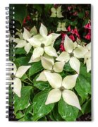 White Bunchberries In The Rain Spiral Notebook