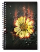 White Butterfly And Yellow Flower Spiral Notebook