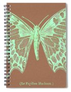 White Butterfly Swallow Tail Le Papillon Machaon Spiral Notebook