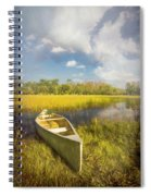 White Canoe Textured Painting Spiral Notebook