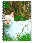 White Cat Spiral Notebook