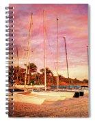 White Catamarans Spiral Notebook
