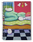 White Cats - Cat Napping Spiral Notebook