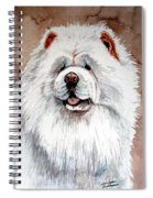 White Chow Chow Spiral Notebook