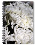 White Chrysanthemum Spiral Notebook