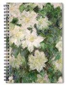 White Clematis Spiral Notebook
