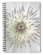 White Clematis Flower Garden 50121b Spiral Notebook