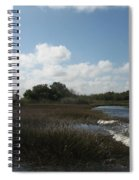 White Cloudes Over Water Spiral Notebook