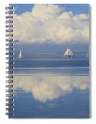 Romantic View With Sailboats In Holland Spiral Notebook