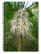 White Confetti Palm Spiral Notebook