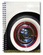White Corvette Front Fender Spiral Notebook